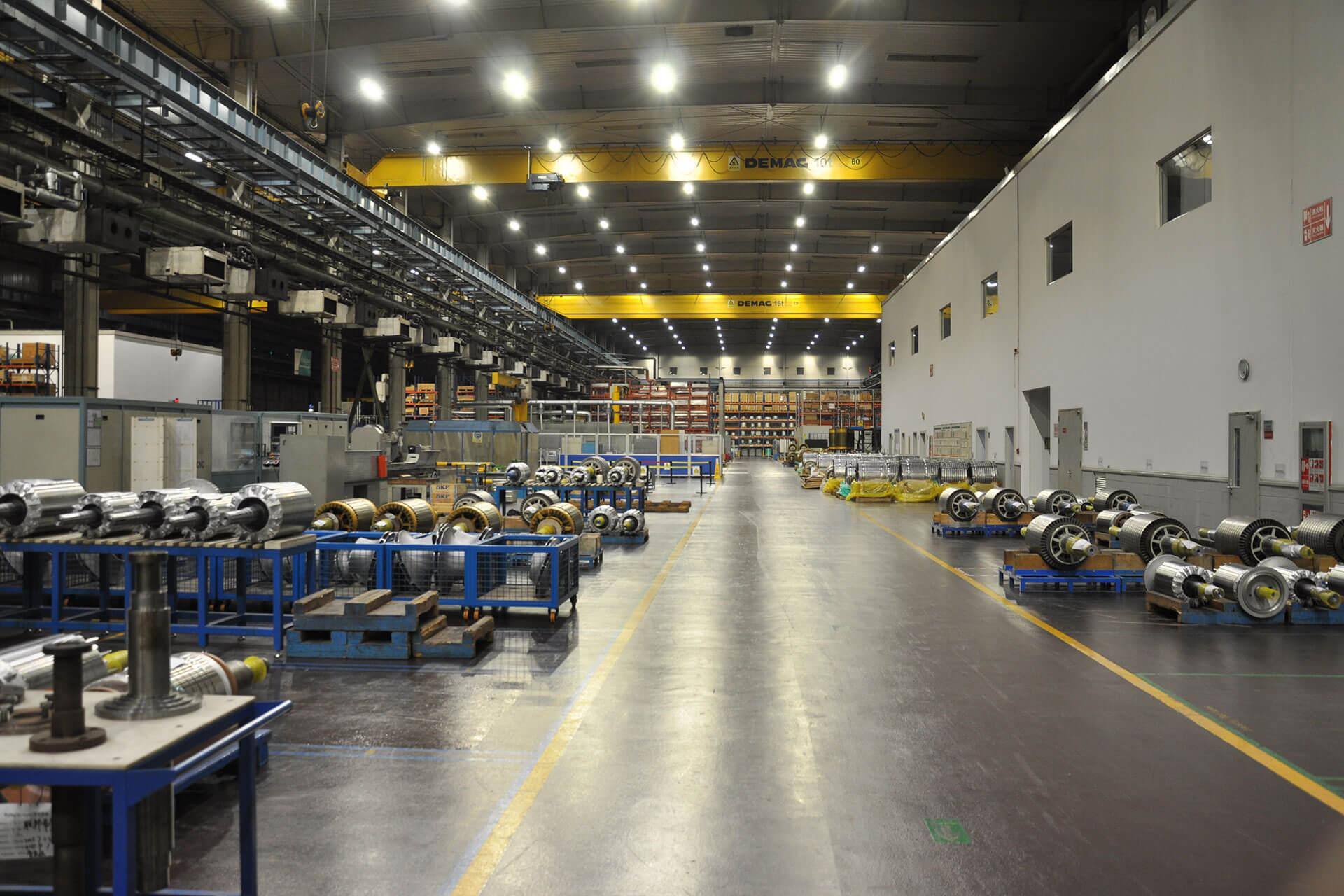 Schréder provided an energy-efficient lighting solution that improved visibility for this busy production facility